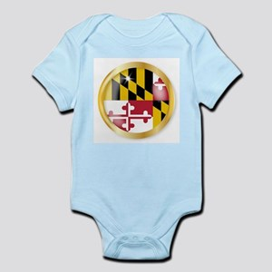 Maryland Flag Button Body Suit