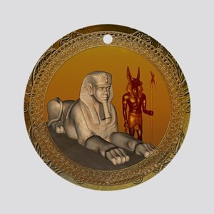 Awesome egyptian sign Round Ornament