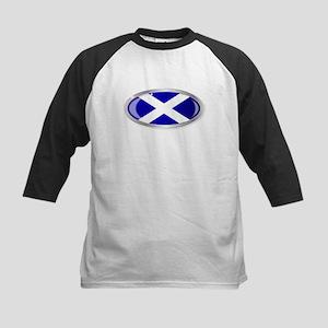 Scotland Flag Oval Button Baseball Jersey
