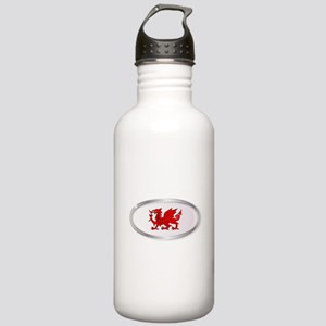 Welsh Dragon Oval Butt Stainless Water Bottle 1.0L