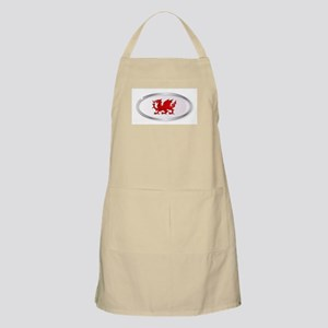 Welsh Dragon Oval Button Apron
