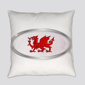 Welsh Dragon Oval Button Everyday Pillow