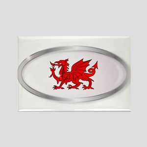 Welsh Dragon Oval Button Magnets