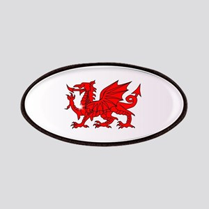 Welsh Dragon Oval Button Patch