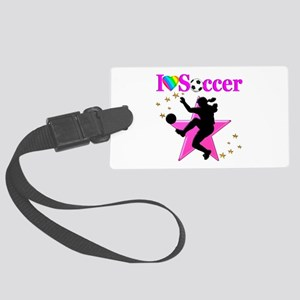 SOCCER PLAYER Large Luggage Tag