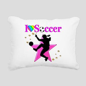 SOCCER PLAYER Rectangular Canvas Pillow