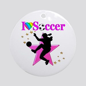 SOCCER PLAYER Round Ornament