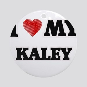 I love my Kaley Round Ornament