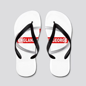England and Saint George Oval Button Flip Flops