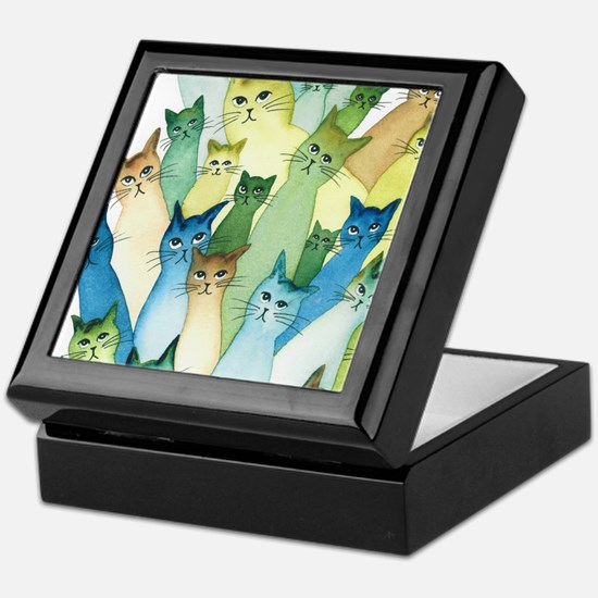 Cute Feline art Keepsake Box