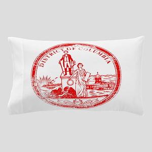 Washington DC Seal Rubber Stamp Pillow Case
