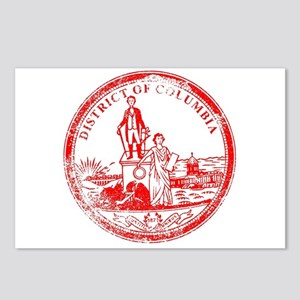 Washington DC Seal Rubber Postcards (Package of 8)