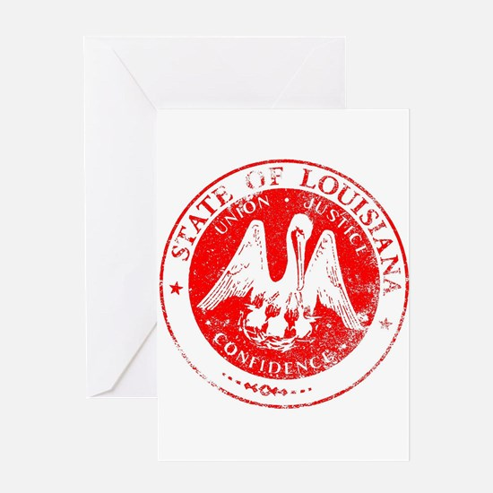 Louisiana Seal Stamp Greeting Cards
