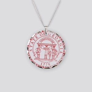 Georgia Seal Stamp Necklace Circle Charm