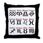 Italian Zodiac Throw Pillow