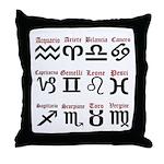 Italian Zodiac Throw Pillow