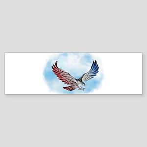 Red White and Blue Eagle 1 Bumper Sticker
