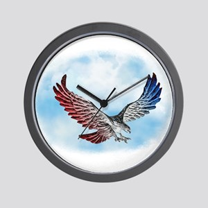 Red White and Blue Eagle 1 Wall Clock