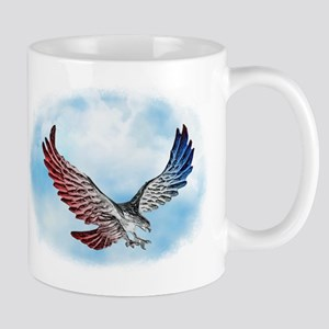 Red White and Blue Eagle 1 Mugs