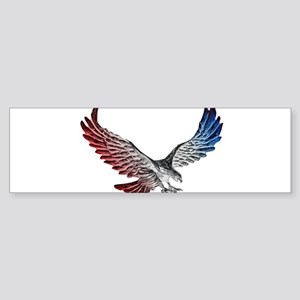 Red White and Blue Eagle 2 Bumper Sticker
