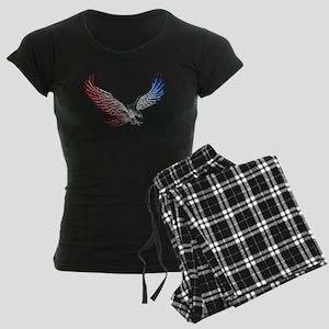 Red White and Blue Eagle 2 Women's Dark Pajamas
