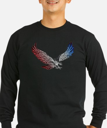 Red White and Blue Eagle 2 Long Sleeve T-Shirt