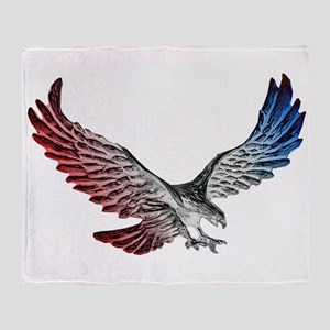 Red White and Blue Eagle 2 Throw Blanket