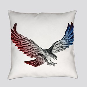 Red White and Blue Eagle 2 Everyday Pillow