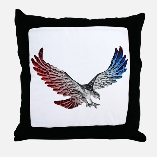 Red White and Blue Eagle 2 Throw Pillow