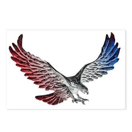 Red White And Blue Eagle Postcards Package Of 8 By Admincp51336015