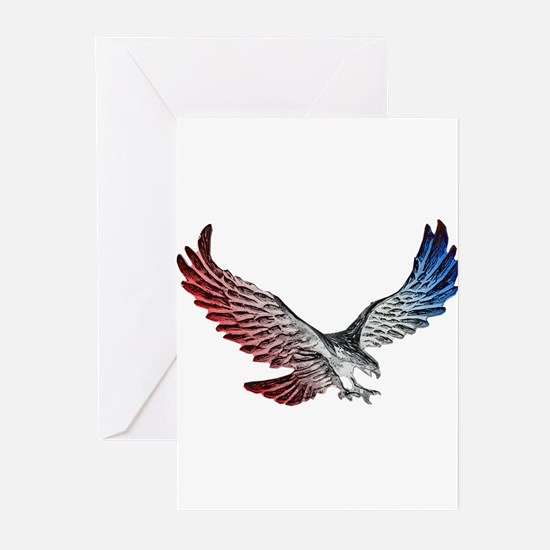 Red White and Blue Eagle 2 Greeting Cards