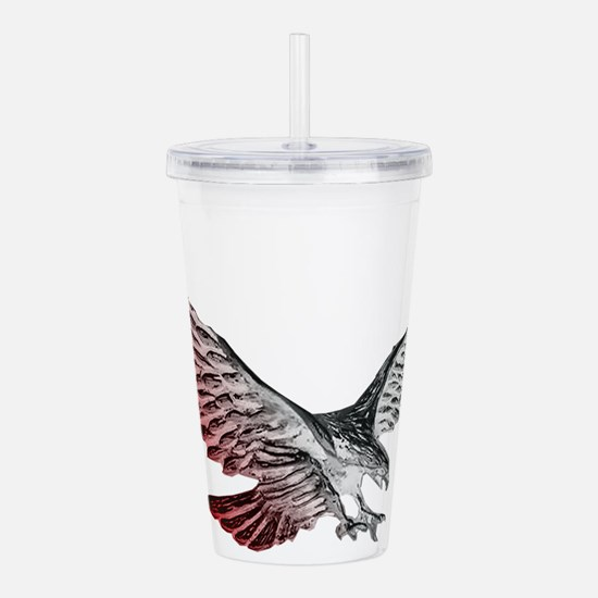 Red White and Blue Eag Acrylic Double-wall Tumbler