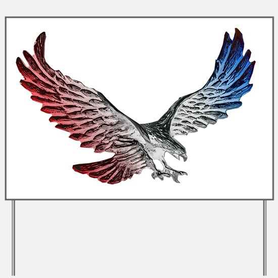 Red White and Blue Eagle 2 Yard Sign