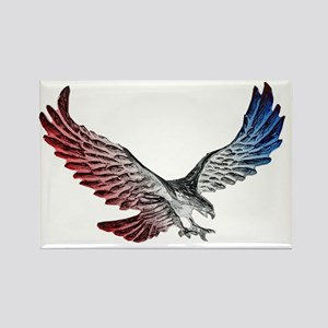 Red White and Blue Eagle 2 Magnets