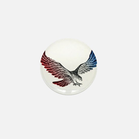 Red White and Blue Eagle 2 Mini Button