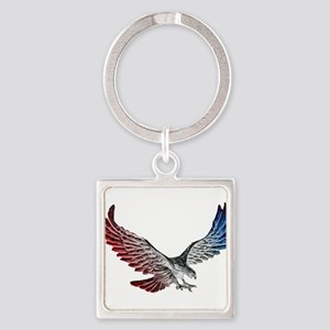 Red White and Blue Eagle 2 Keychains