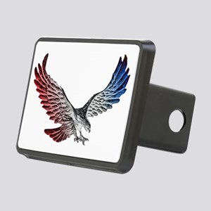 Red White and Blue Eagle 2 Rectangular Hitch Cover