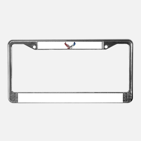 Red White and Blue Eagle 2 License Plate Frame