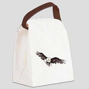 Soaring Bald Eagle Canvas Lunch Bag