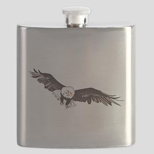 Soaring Bald Eagle Flask