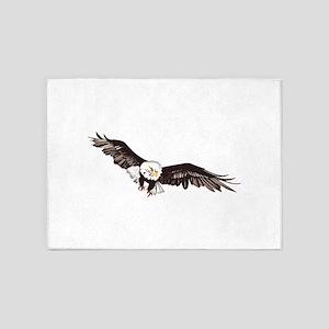 Soaring Bald Eagle 5'x7'Area Rug