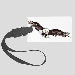 Soaring Bald Eagle Large Luggage Tag