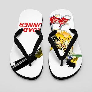 Road Runner in Sneakers Flip Flops