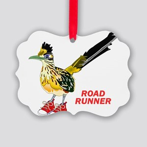 Road Runner in Sneakers Picture Ornament