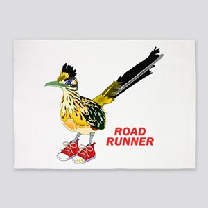 Road Runner in Sneakers 5'x7'Area Rug