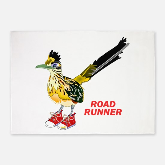 Road Runner in Sneakers 5'x7'Area Rug
