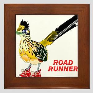 Road Runner in Sneakers Framed Tile