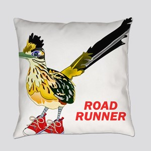 Road Runner in Sneakers Everyday Pillow