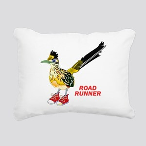Road Runner in Sneakers Rectangular Canvas Pillow