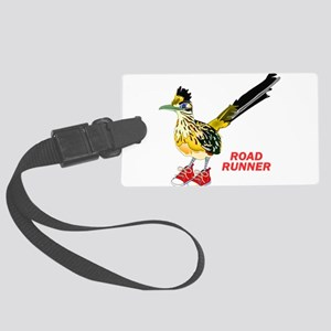 Road Runner in Sneakers Large Luggage Tag